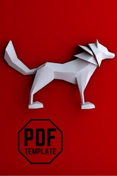 Papercraft Wolf, Easy to make! You print, cut and glu, enjoy! PDF Template, instant download Wolf, Sculptures, Template, Easy, 3d Paper Art, Paper Envelopes, Wolves, Vorlage, Timber Wolf