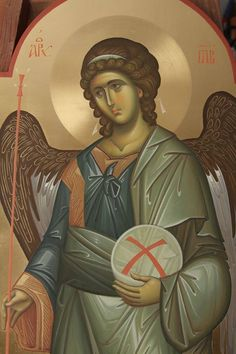 The Rich Classicism of Fr. Byzantine Art, Byzantine Icons, Monastery Icons, Writing Icon, Becoming A Monk, Paint Icon, Archangel Michael, Religious Icons, Orthodox Icons