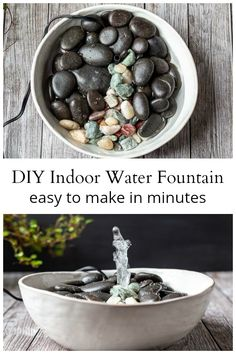 A compilation of different recipes for homemade goldfish feed.A compilation of different recipes for homemade goldfish feed.Simple DIY water fountainListen to the relaxing sound of water from your own homemade table fountain. Desk Fountain, Water Fountain Pumps, Bamboo Fountain, Tabletop Water Fountain, Small Fountains, Indoor Water Fountains, Indoor Fountain, Garden Fountains, Homemade Water Fountains