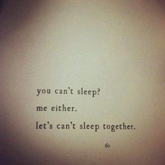 let's cant sleep together
