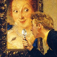 1955 - the art critic - Norman Rockwell (detail)