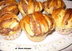 Muffins με ζύμη brioche με φυστικοβούτυρο και nutella Nutella, Muffins, Chocolate Desserts, Pretzel Bites, Cupcake Cakes, Cupcakes, Baked Potato, French Toast, Bakery