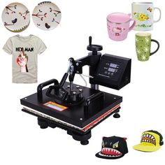 (530.00$)  Know more - http://aisa7.worlditems.win/all/product.php?id=32349291564 - Ferro De Passar Roupa Ropa Beesteam Keeping 5 In 1 Heat Press Machine Digital Transfer Sublimation T-shirt Mug Cap Plate Rushed