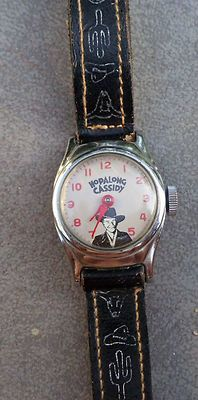 Hopalong Cassidy working wristwatch. I fondly remember my dad buying one of these for my Birthday. I had no idea who Hopalong was and the watch was old  but in its sealed package. I wish I still had it.