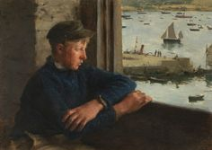 Henry Scott Tuke - The Look Out, 1886