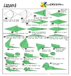 origami animal diagrams - Google Search