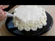 Tortadíszítés krémmel - YouTube Camembert Cheese, Icing, Cake, Food, Youtube, Kuchen, Essen, Meals, Torte