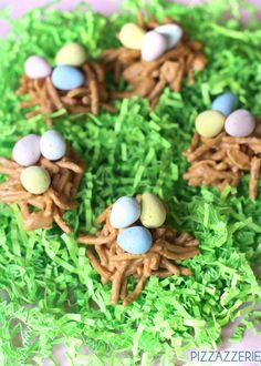 For Eggstravaganza!!!! DIY Cute Easter Birds' Nest Treats! on http://pizzazzerie.com