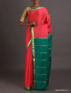 Shruti Charming Contrast Traditional #MysoreSilkSaree