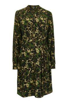 MATERNITY Camo Shirt Dress