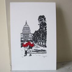 decorate with a piece of art for each city lived in... this is a good idea for dc