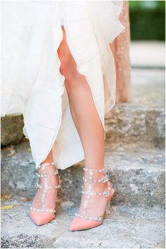 Valentino wedding shoes  | Image by One and Only Paris, read more  http://www.frenchweddingstyle.com/wedding-in-aix-en-provence/