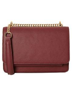 4a9bcbdafad0 fancy, glamorous bags · Winetasting cross-over bag with a gold strap.   veromoda Kleine Umhängetasche, Verschluss
