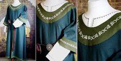 Surcote mit besticktem Kragen Medieval Dress, Schneider, Ruffle Blouse, Tops, Women, Fashion, Marriage Dress, Bridle Dress, Gowns