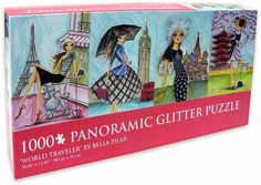 Bella Pilar  -  'World Traveler', a 1000 piece glittered jigsaw puzzle. Visit barnesandnoble.com, & search 'Bella Pilar'. $14.95