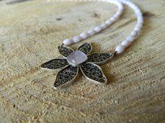Handmade filigree pendant with amethyst gemstone Amethyst Gemstone, Gemstone Jewelry, Silver Filigree, Handmade Jewelry, Brooch, Necklaces, Gemstones, Pendant, Bijoux