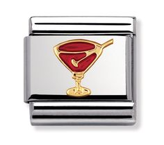 Nomination Stainless Steel, 18ct Gold and Enamel Cocktail Charm 030209/29