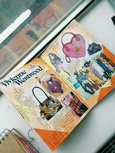 Vivienne Westwood - artist research A Level Art Sketchbook, Sketchbook Layout, Textiles Sketchbook, Fashion Design Sketchbook, Fashion Design Portfolio, Sketchbook Inspiration, Fashion Books, Fashion Art, A Level Textiles