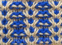 """Двухцветный узор """"Гусенички"""" Baby Knitting Patterns, Knitting Designs, Stitch Patterns, Crochet Patterns, Mosaic Patterns, Knit Crochet, Cross Stitch, Blanket, Crafts"""