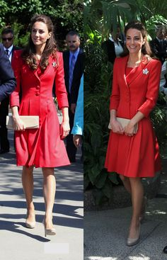 Kate Middleton in a Catherine Walker Coat