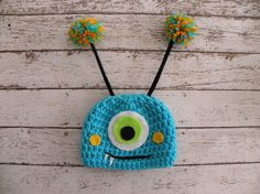 Monster hat photo prop Baby boy monster by TrebleStitchBoutique, $20.00