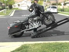 VIDEO....  Rampage power Lift Motorcycle loader for pickup trucks Big Rig Tractors Flat-bed and Sprinter Vans