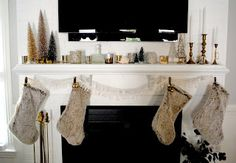 Anthropologie Inspired Holiday Mantel