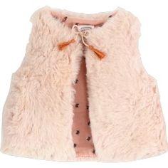 Girls Sleeveless vest Lining in printed fabric « cats Fancy Cats, Girls Wardrobe, Smocking, Printing On Fabric, Boho Chic, Little Girls, Fur Coat, Fashion, Girl Clothing