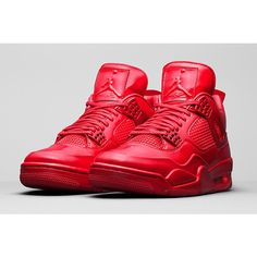 AIR JORDAN 11LAB4 (UNIVERSITY RED) Sneaker Freaker ❤ liked on Polyvore featuring shoes