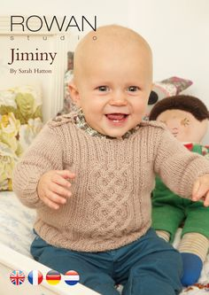 Rowan Baby Knitting Pattern Books : Heirloom Cables Baby Sweater in Lion Brand Vannas Choice - 60647AD Kni...