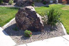 1000 images about rock landscaping on pinterest rock for Large river rock landscaping