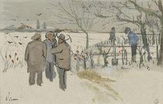 Mijnwerkers in de sneeuw (1882), Vincent van Gogh