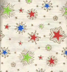 Vintage Christmas Wrapping Christmas Stars Christmas Gift Wrap One Flat Sheet Vintage Christmas Wrapping Paper, Christmas Gift Wrapping, Vintage Holiday, Christmas Cards, Vintage Sheets, Paper Gifts, Vintage Sewing Patterns, Wraps, Tissue Paper