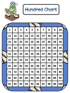 """FREE MATH LESSON - """"The Baseball Hundred Chart"""" - Go to The Best of Teacher Entrepreneurs for this and hundreds of free lessons.   Pre-Kindergarten - 1st Grade  #FreeLesson  #Math     http://www.thebestofteacherentrepreneurs.net/2012/08/by-math-coachs-corner-pre-kindergarten.html"""