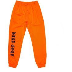 HARDCORE SWEATPANT ❤ liked on Polyvore featuring activewear, activewear pants, orange sweat pants, orange sweatpants and sweat pants