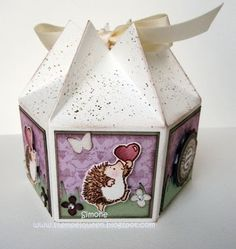 Great 6 sided gift box tutorial   Hexagon