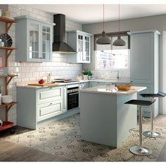 Cozinha 1.80m - DELINIA GALES AZUL - Leroy Merlin