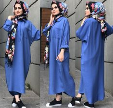 Modern Hijab Fashion, Islamic Fashion, Abaya Fashion, Muslim Fashion, Modest Fashion, Fashion Dresses, Hijab Style Dress, Casual Hijab Outfit, Hijab Chic