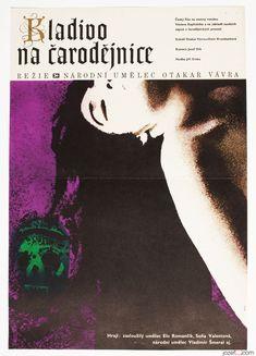 Movie Poster Witchhammer, Poster design by František Zálešák 1969. #MoviePoster #Poster #GraphicDesign