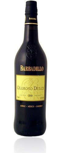 Barbadillo Oloroso Dulce Vors 30 Years : This Sherry carries the new V.O.R.S. designation for old soleras of at least 30 years of age. The Non-Vintage Oloroso Dulce V.O.R.S. is amber/mahogany with aromas of leather, coffee, vanilla, nuts and figs. Just off-dry, it is powerful yet smooth in the mouth.
