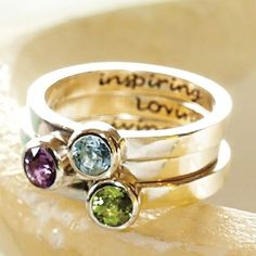 love the stackable rings
