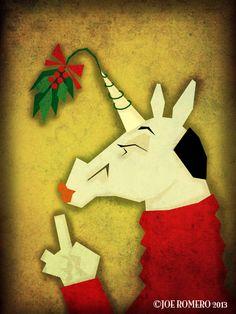 "A Unicorn a Day ""Mistletoe Unicorn"""