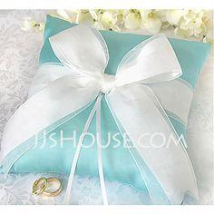 Ring Pillow Garden Theme Black Blue Pink Winter Fall Summer Spring Satin Ribbons Sash 8