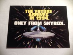 1994 SkyBox Star Trek The Future Arrives In 1994 Promo Card No Number Send Away
