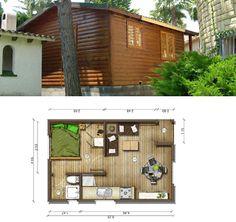 Planos de Casas Pequeñas: Plano Casa 30 m2