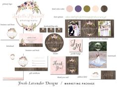 Introducing the newest family member to Fresh Lavender Designs...A chic complete branding package, to get your new business on its feet or