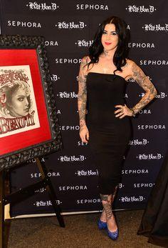 "Kat Von D - Sephora Presents Kat Von D's First Solo Art Show ""New American Beauty"" At Sephora Powell San Francisco California"