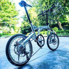 nicely finished hi-polished BIRDY folding bike
