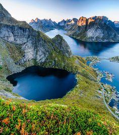 The stunning mountains of Lofoten Islands in Norway Photo Credit: David Varga