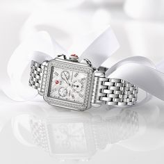 This Deco watch would look great under the tree. Ladies, time to drop a hint to your special someone. #MICHELEWatches #MICHELEwishlist